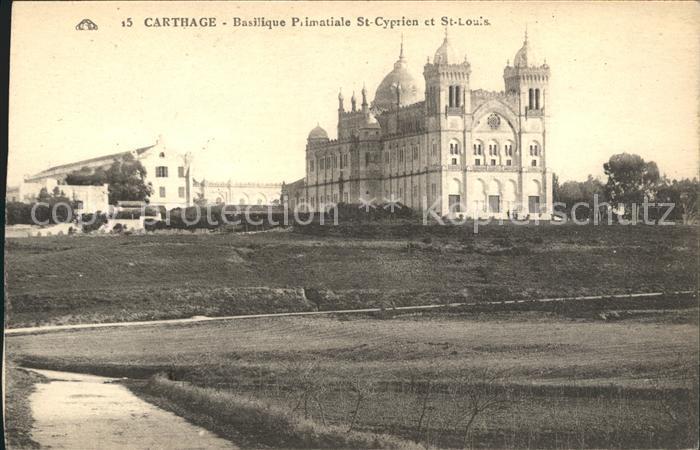 Carthage Karthago Basilique Primatiale St. Cyprien St. Louis Kat. Tunis