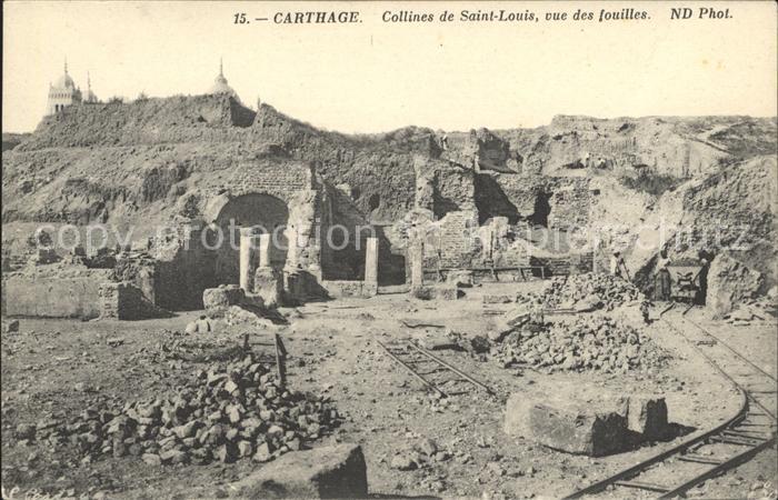 Carthage Karthago Collines de Saint Louis Fouilles Kat. Tunis