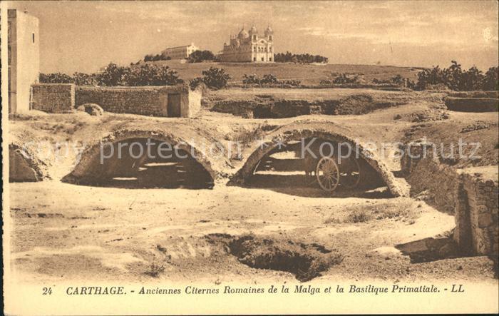 Carthage Karthago Anciennes Citernes Romaines Malga Basilique Primatiale Kat. Tunis