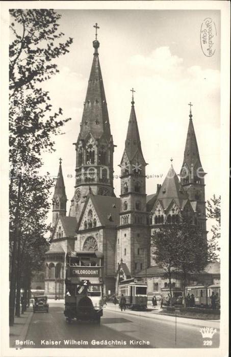 Berlin Kaiser Wilhelm Gedaechtnis Kirche Kat. Berlin