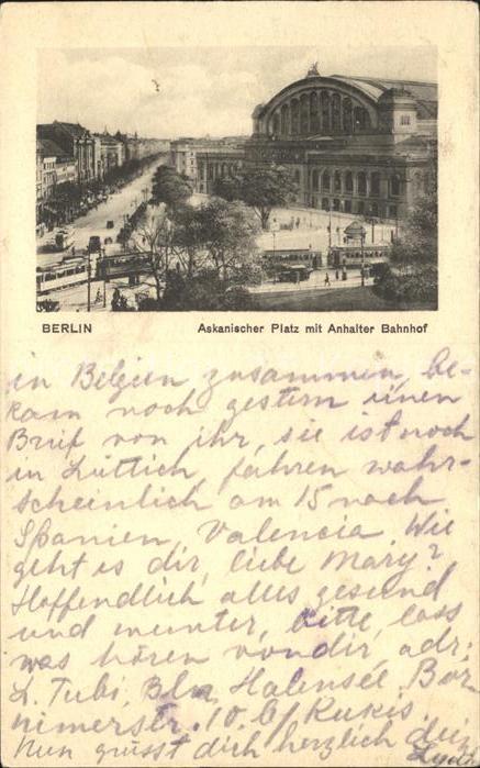Berlin Askanischer Platz Anhalter Bahnhof  Kat. Berlin