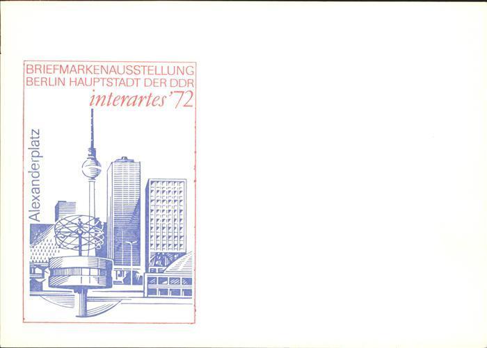 Berlin Briefmarkenausstellung Alexanderplatz Kat. Berlin