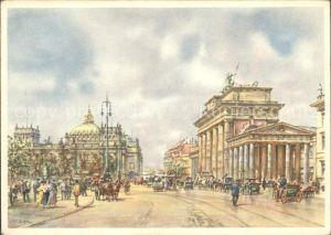 Berlin Brandenburger Tor nach einem Orig Aquarell von Wolfgang Tritt Kat. Berlin