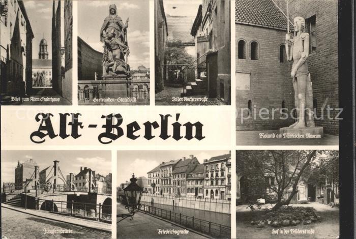 Berlin Roland Hof Brueder Strasse Friedrichsgracht  Kat. Berlin