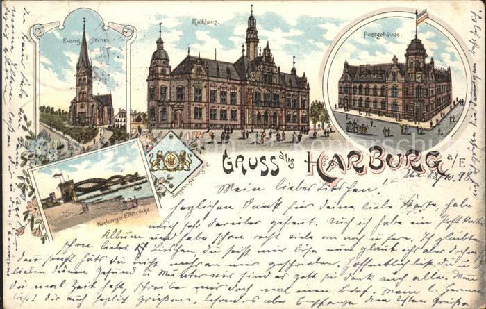 ak hamburg harburg panorama mit mittelschule und rathaus nr 1901558 oldthing ansichtskarten. Black Bedroom Furniture Sets. Home Design Ideas