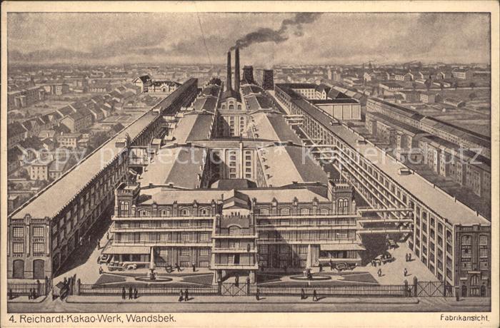Wandsbek Reichardt  Kakao  Werk Fabrikansicht Kat. Hamburg