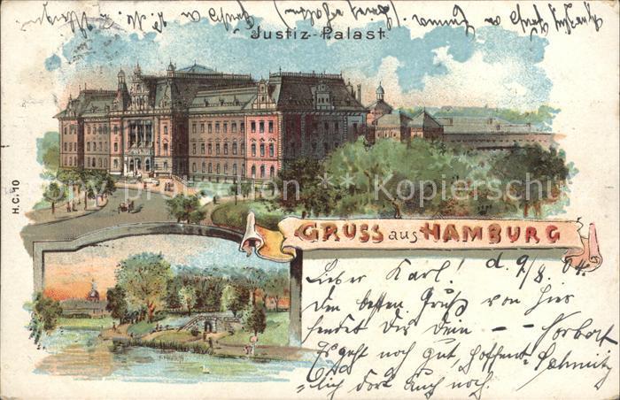 Hamburg Justiz  Palast Kat. Hamburg