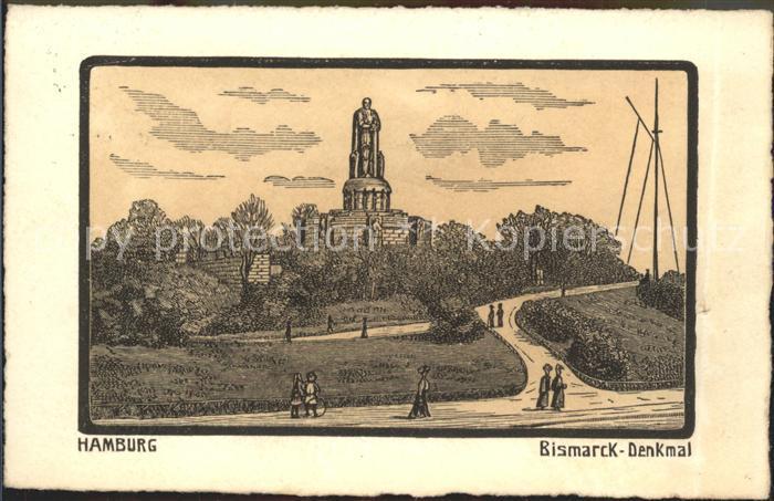 Hamburg Bismarck  Denkmal Kat. Hamburg