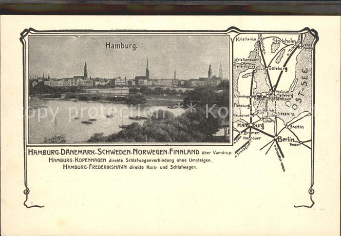 Hamburg Karte Kat. Hamburg