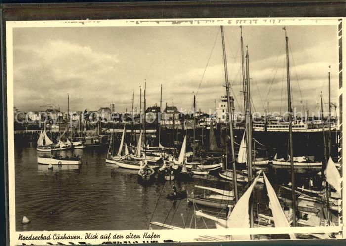 Cuxhaven Nordseebad Blick auf den alten Hafen Kat. Cuxhaven