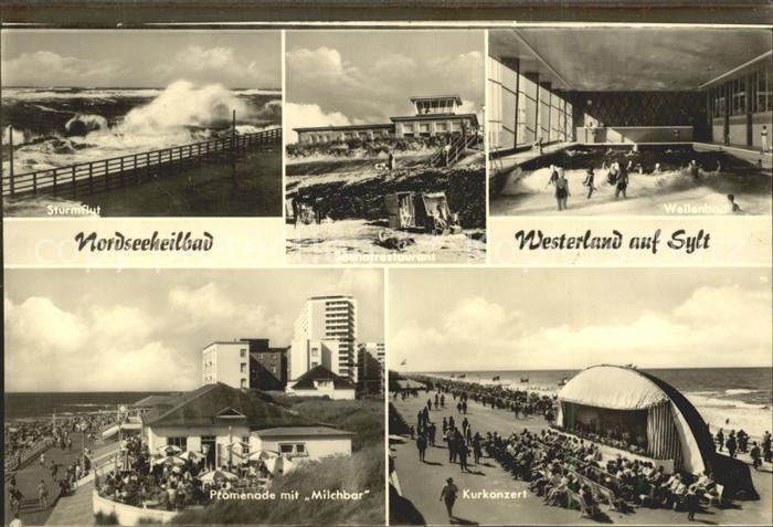 Westerland Sylt Kurkonzert Sturmflut Promenade Milchbar Kat. Westerland