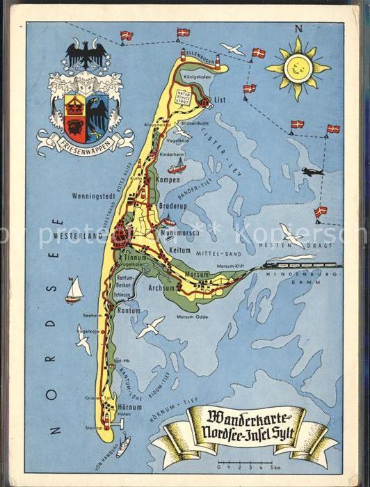 Karte Von Sylt.Sylt Karte Karte