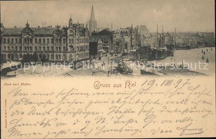 Kiel Post Hafen Kat. Kiel