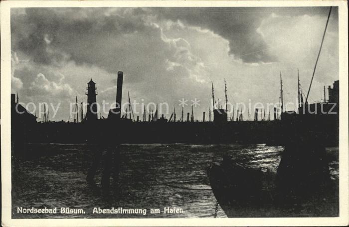 Buesum Nordseebad Hafen am Abend Kat. Buesum