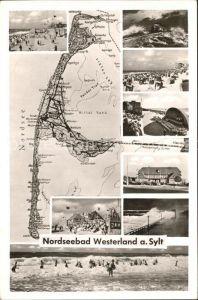 Westerland Sylt Ansichten und Karte Kat. Westerland