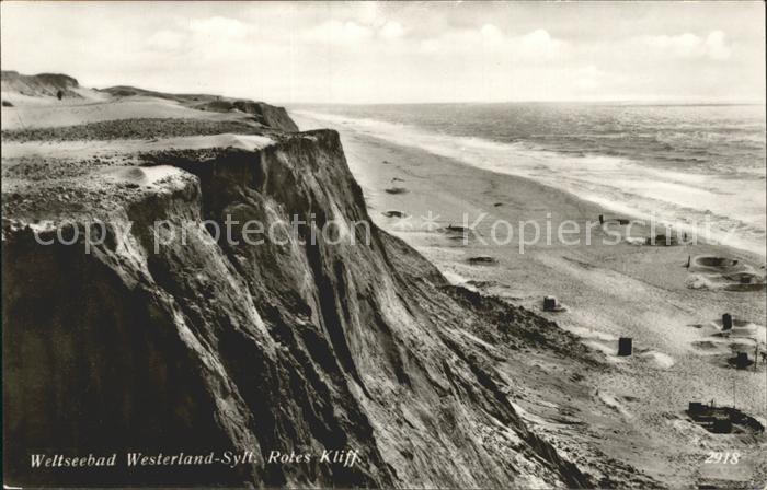 Westerland Sylt Rotes Kliff Kat. Westerland