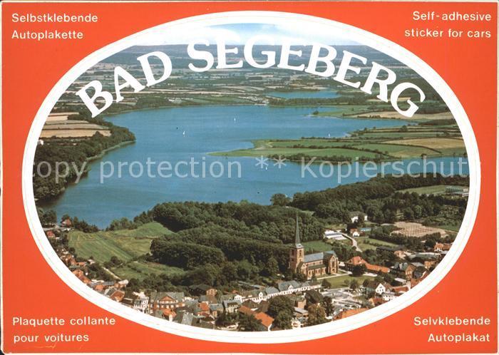 Bad Segeberg Fliegeraufnahme Autoplakette Kat. Bad Segeberg
