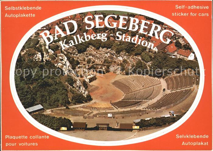 Bad Segeberg Fliegeraufnahme Freilichttheater Autoplakette Kat. Bad Segeberg