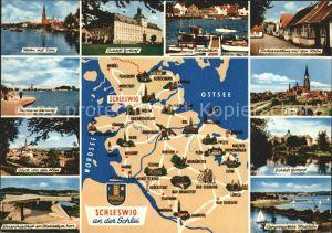Schleswig Holstein Ansichten mit Karte Kat. Schleswig