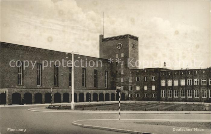 Flensburg u a Deutsches Haus ca 1955 Nr