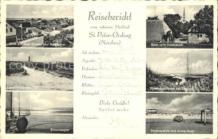 St Peter Ording Strandsegler Strand Arche Noah Kat. Sankt Peter Ording