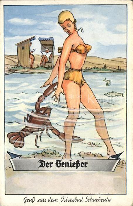 Scharbeutz Ostseebad Der Geniesser Karikatur Kat. Scharbeutz