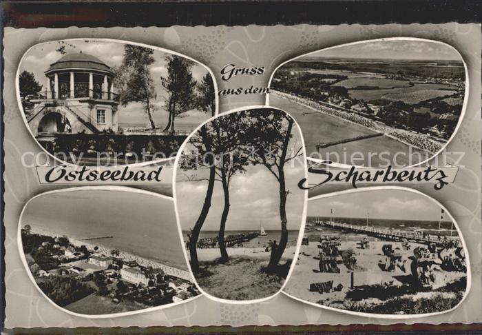 Scharbeutz Ostseebad Pavillon Panorama Strandpartien Kat. Scharbeutz