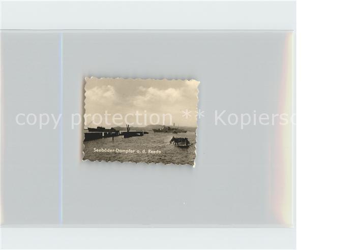 Helgoland Seebaeder Dampfer auf Reede / Helgoland /Pinneberg LKR