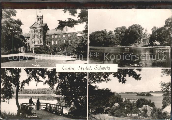 Eutin Schloss Stadtbucht Kellersee Ugleisee Kat. Eutin