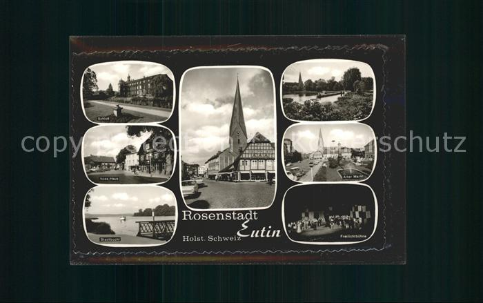 Eutin Schloss Voss Haus Stadtbucht Markt Kat. Eutin