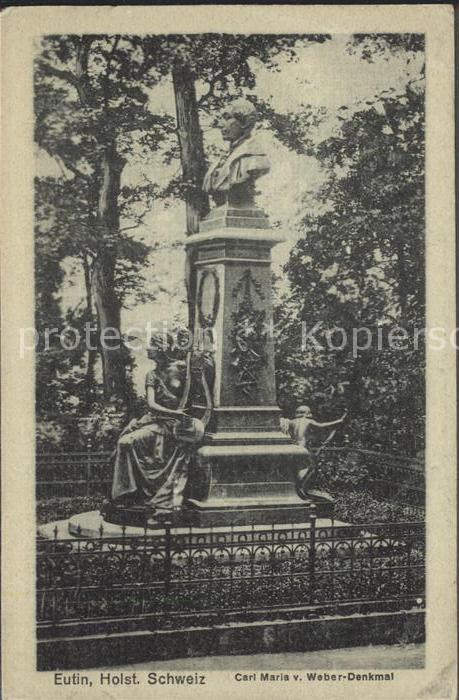 42087201 Eutin Carl Maria Weber Denkmal  Eutin Eutin