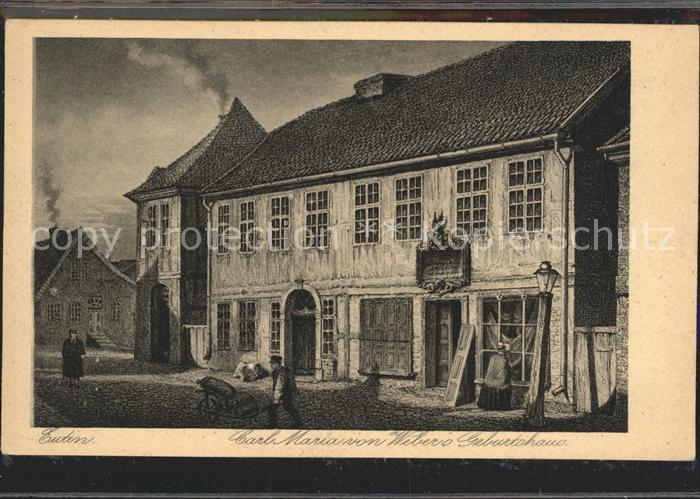 Eutin Carl Maria Weber Geburtshaus  Kat. Eutin