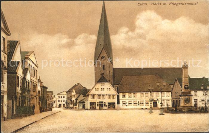 Eutin Markt mit Kriegerdenkmal Kat. Eutin