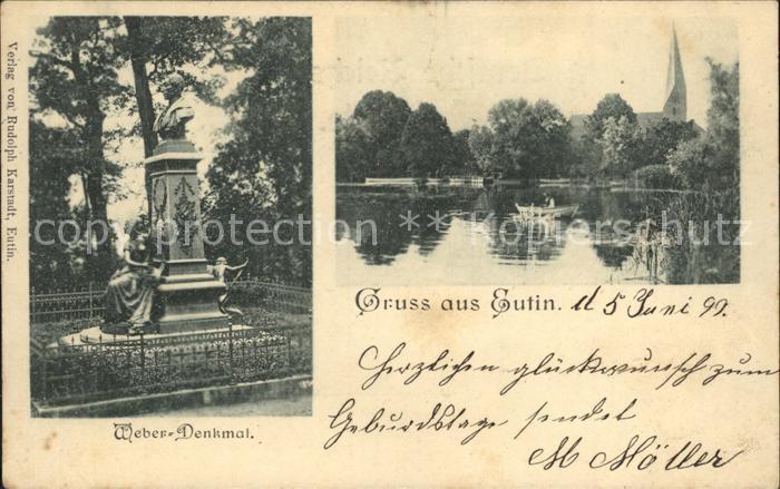 Eutin Weber Denkmal Kat. Eutin