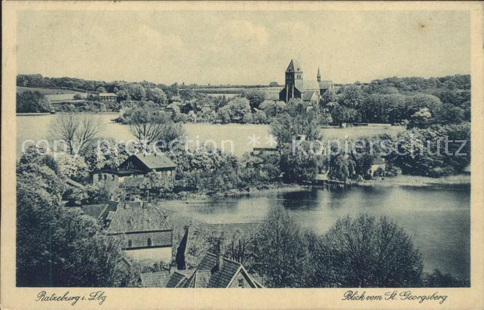 Ratzeburg Blick vom St. Georgsberg Kat. Ratzeburg