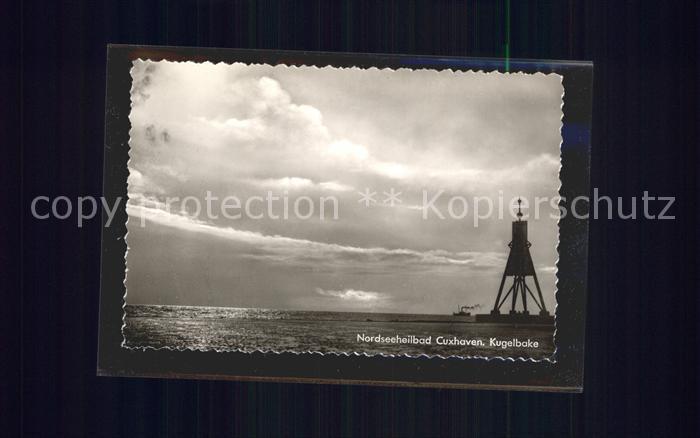 Cuxhaven Nordseebad Kugelbake Kat. Cuxhaven