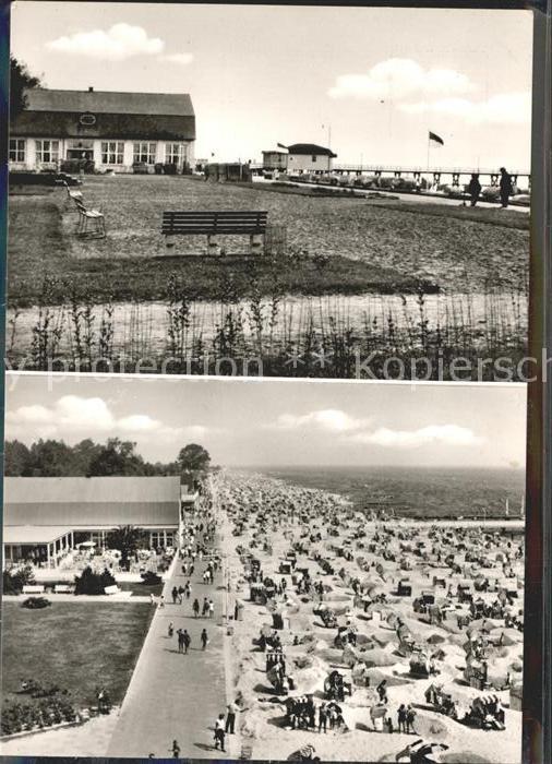 Groemitz Ostseebad Strandhalle einst und jetzt /  /
