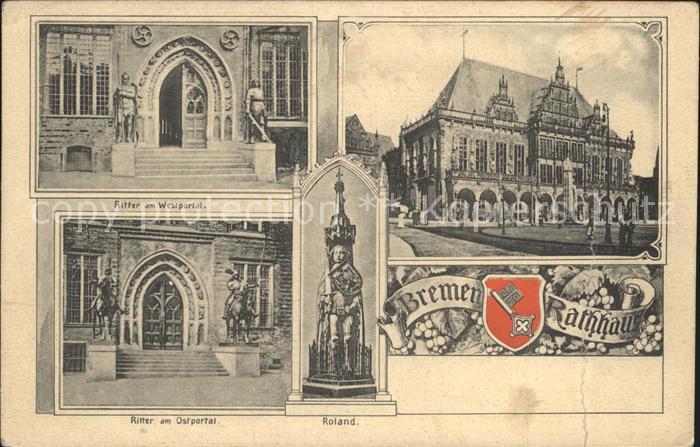 Bremen Rathaus Roland  Kat. Bremen