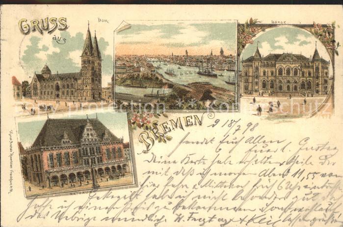 Bremen Dom Hafen Rathaus Kat. Bremen