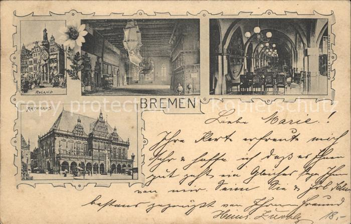 Bremen Roland Rathaus  Kat. Bremen