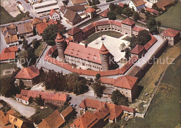 Lichtenau Mittelfranken Festung Lichtenau Fliegeraufnahme Kat. Lichtenau