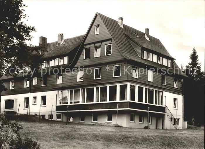 Hahnenklee Bockswiese Harz Ev Muettergenesungsheim Haus Tannenhof Kat. Goslar