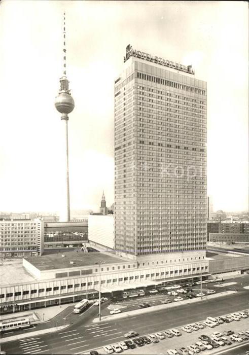 Berlin Interhotel Stadt Berlin und Fernsehturm Kat. Berlin