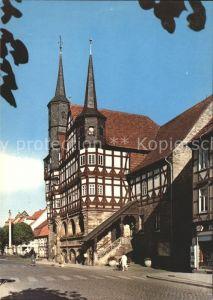 Duderstadt 1000jaehrige Stadt Rathaus 13. Jhdt. Mariensaeule Kat. Duderstadt