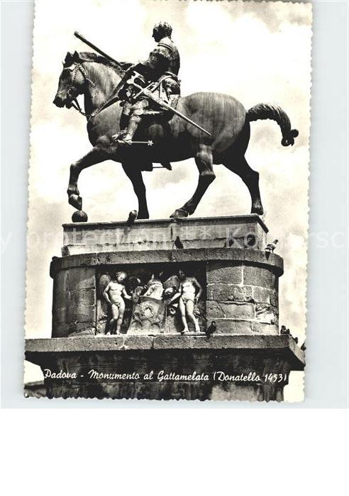 Padova Monumento al Gattamelata Denkmal Kat. Padova