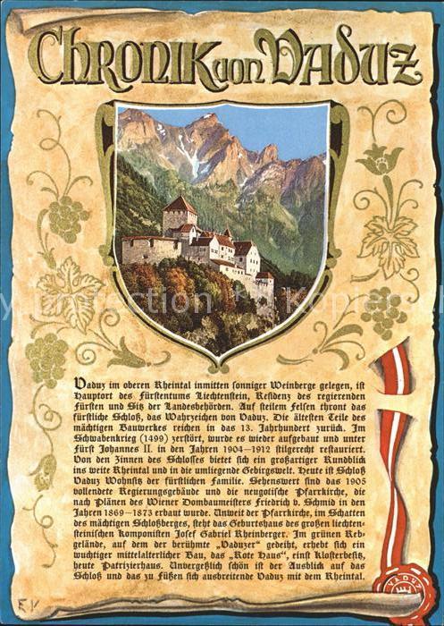 Vaduz Chronik von Vaduz Kat. Vaduz