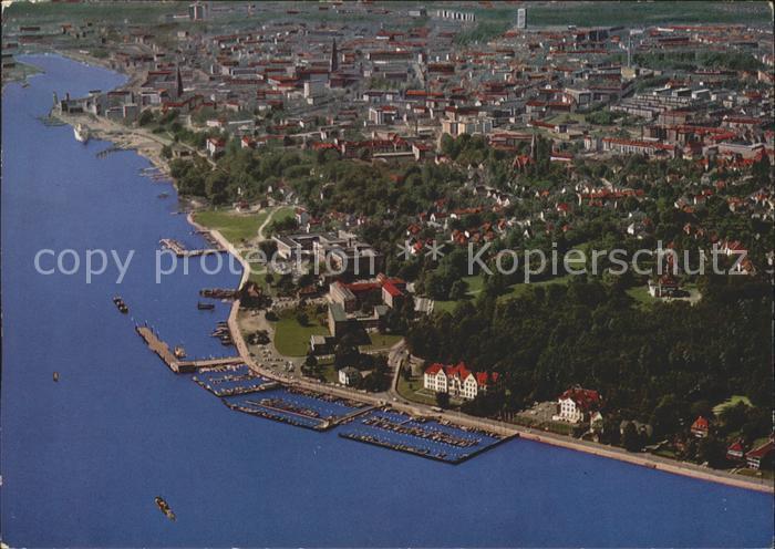 Kiel Fliegeraufnahme Hafen und Stadt Kat. Kiel