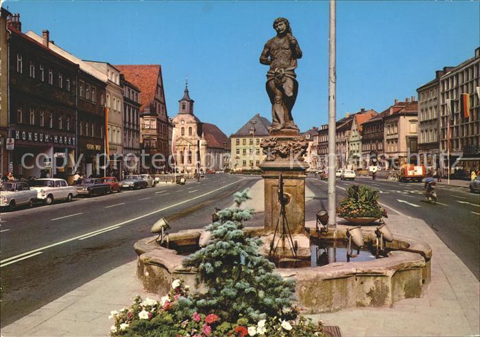Bayreuth Maximilianstrasse mit Herkulesbrunnen Kat. Bayreuth