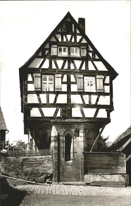 Heilsbronn Ehemalige Spitalkapelle Fachwerkhaus / Heilsbronn /Ansbach LKR