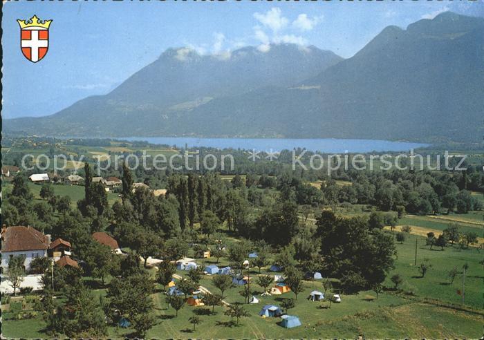 Lathuile Fliegeraufnahme Camping du Verger Fleuri Lac d Annecy Kat. Lathuile
